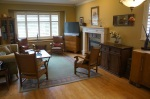 Living/Dining Room with gas fireplace.